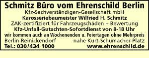 Schmitz Büro vom Ehrenschild Berlin Kfz Sachverständigen GmbH