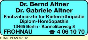 Altner, Bernd, Dr. und Dr. Gabriele Altner