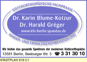 Blume-Kotzur, Karin, Dr., und Dr. Harald Gréger