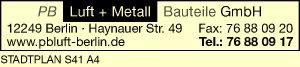 PB Luft + Metall Bauteile GmbH