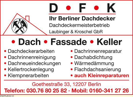 DFK Dachdeckermeisterbetrieb Laubinger Kroschel GbR