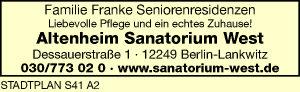 Altenheim Sanatorium West