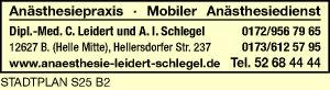 Logo von Leidert, C., Dipl.-Med. und A. I. Schlegel