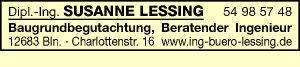 Lessing, Susanne, Dipl.-Ing. - Baugrundbegutachtung
