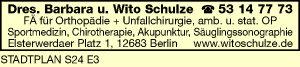 Schulze - Fachärzte für Orthopädie und Unfallchirurgie
