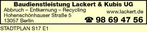 Baudienstleistung Lackert & Kubis UG (haftungsbeschränkt)