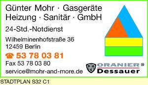 Mohr Gasgeräte, Heizung, Sanitär GmbH, Günter