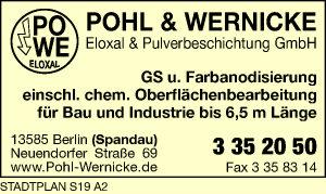 Pohl & Wernicke Eloxal & Pulverbeschichtung GmbH
