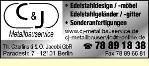 C & J Metallbauservice, Th. Czerlinski u. O. Jacobi GbR