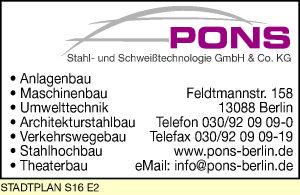 PONS Stahl- und Schweißtechnologie GmbH & Co. KG