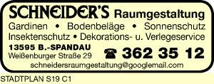 Schneider's Raumgestaltung