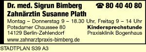 Bimberg, Sigrun, Dr. med. und Susanne Plath