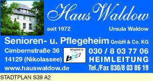 Haus Waldow Senioren- und Pflegeheim GmbH & Co. KG