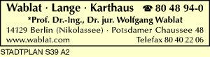 Wablat - Lange - Karthaus