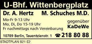 Hertz, A., Dr. und M. Schuches M.D.