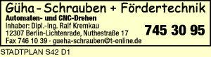 GÜHA - Schrauben + Fördertechnik, Inh. Dipl.-Ing. Ralf Kremkau