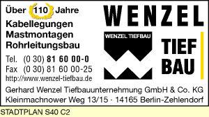 Logo von Gerhard Wenzel Tiefbauunternehmung GmbH & Co. KG