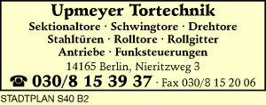 Upmeyer Tortechnik
