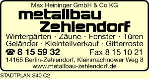 Heininger GmbH & Co KG Metallbau Zehlendorf