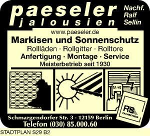 Paeseler Jalousien Nachfolger Ralf Sellin