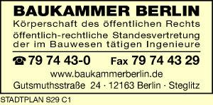 Baukammer Berlin Körperschaft des öffentlichen Rechts