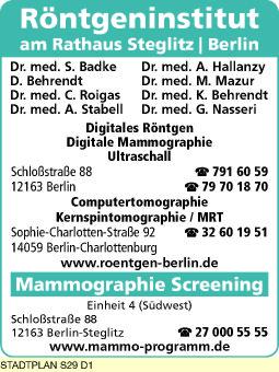 Badke, S., Dr. med. und weitere Ärzte - Röntgeninstitut am Rathaus Steglitz