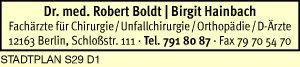 Boldt, Robert, Dr. med. und Birgit Hainbach