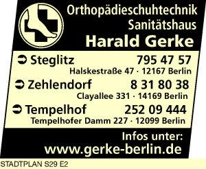 Logo von Gerke Sanitätshaus & Orthopädieschuhtechnik