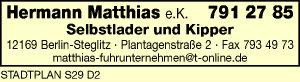 Matthias e.K., Hermann