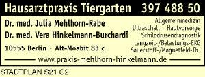 Mehlhorn-Rabe, Julia, Dr. med. und Dr. med. Vera Hinkelmann-Burchardi