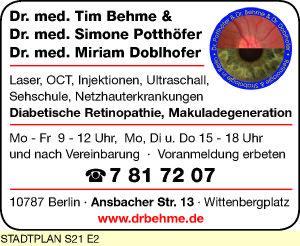 Behme, Tim, Dr. med. und Dr. med. Simone Potthöfer und Dr. med. Miriam Doblhofer