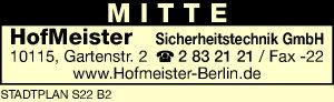 HofMeister Sicherheitstechnik GmbH