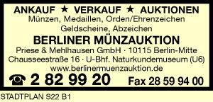 Berliner Münzauktion Priese & Mehlhausen GmbH