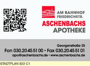 Aschenbachs Apotheke am Bahnhof Friedrichstr.