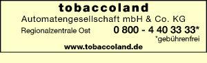 Logo von tobaccoland Automatengesellschaft mbH & Co. KG