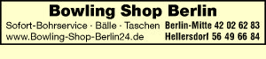 Bowling Shop Berlin - Bowlingzubehör - Bälle - Taschen - Sofort-Bohrservice