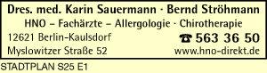 Logo von Sauermann, Karin, Dr. med. und Dr. med. Bernd Ströhmann
