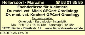 Miels, Dr.med.vet. GPCert Cardiology und Kochert, Dr.med.vet.