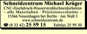 Krüger, Michael - Schneidzentrum
