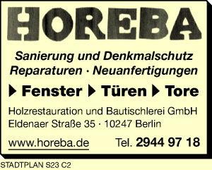 Horeba Holzrestauration u. Bautischlerei GmbH