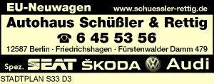 Logo von Autohaus Schüßler & Rettig