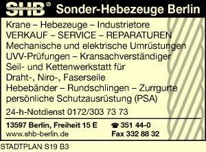 Logo von SHB Sonder-Hebezeuge Berlin GmbH & Co. KG