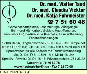 Taud, Walter, Dr. med., Vicktor, Claudia, Dr. med. u. Dr. med. Katja Fuhrmeister