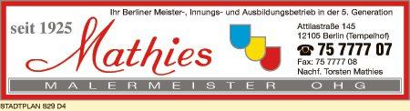 Mathies Malermeister OHG, Nachf. Torsten Mathies