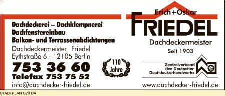 Dachdeckermeister Friedel