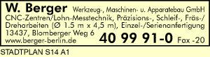 Berger Werkzeug-, Maschinen- und Apparatebau GmbH