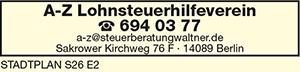 A-Z Lohnsteuerhilfeverein