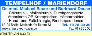 Bauer, Michael, Dr. med. und Burkhard Deuse