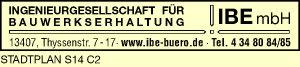 Logo von IBE Ingenieurgesellschaft für Bauwerkserhaltung mbH