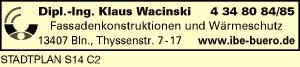 Logo von Wacinski Klaus Dipl.-Ing.